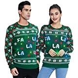 Ugly Weihnachtspullover mit LED-Leuchten Fa La La La