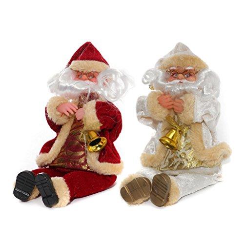 LUOEM Sitzender Weihnachtsmann Figur Weihnachtsfigur Weihnachten Tischdeko Figur
