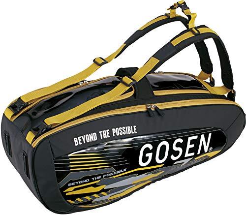 ゴーセン(GOSEN)テニスバドミントンラケットバッグPro4テニスラケット4本用ブラックBA19PR4