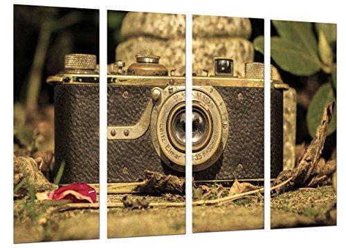 MULTI Houten Afdrukken Art Print Box Ingelijste Beeld Wandopknoping - Camera Leica Vintage, Camera Fotografische Oud, (Totale Grootte: 51,6