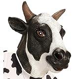 Widmann 96646 Ganzkopf Maske Kuh, Schwarz/Weiß, Einheitsgröße