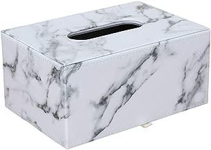 KINTRADE Rechteckige Marmor PU Leder Kosmetiktuch Box Abdeckung Serviettenhalter Papierhandtuchspender Container f/ür Home Office Auto Decor