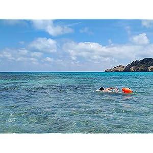 5154JJwWN6L. SS300  - LimitlessXme Boya De Natacion con Bolsa Seca Plus Bolsillo Impermeable Celular. Visibilidad y Seguridad al Nadar en el mar y en el Lago.