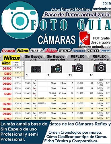 Foto Guía de Cámaras profesionales.: Base de datos de las cámaras Reflex y Sin Espejo.