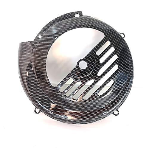 Boita 2.0 - Funda para volante de hierro para Vespa 50-90-125 Primavera ET3, color negro brillante