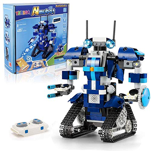 STEM Robot Building Kits for Kids, Remote Controlled Robot Building Toy 405+ Pieces Kit, Ages 8+, Birthday Gift Children Bots Hands-on Exercise Brain Activity Toys for Boys Girls