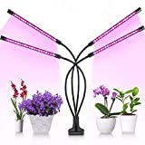 BestFire Grow Light 4 Head Plant Light 36W Grow Lights for Indoor Plants 80 LED 10 Dimmable Levels Grow Lamp with Red Blue Spectrum Adjustable Gooseneck, 3/6/12H Timer, 3 Switch Modes FCC CE ROHS Cert
