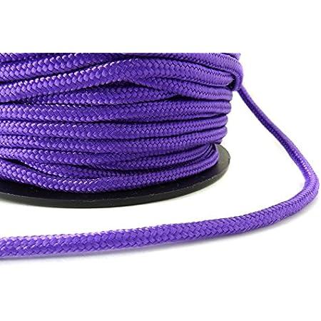 Paracord trenzado cuerda de plantilla 2 mm en lila - 5 Meter ...