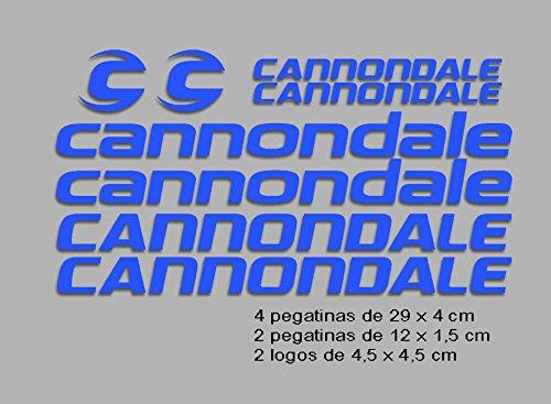 Ecoshirt PI-S98X-L8YA Pegatinas Cannondale F117 Vinilo Adesivi Decal Aufkleber Клей MTB Stickers Bike, Azul