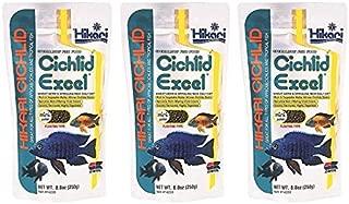 (3 Pack) Hikari Cichlid Excel Floating Pellets Mini, 8.8-Ounce Per Pack