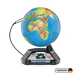 VTech 80-605404 Globe vidéo interactif,Globus d'apprentissage, Emballage normal, Multicolore
