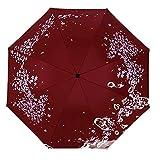 comehai Regenschirm automatische tragbare Reise Regenschirm Geschenktüte Trockenbeutel,Schwarzer Kunststoff Sonnenschirm Anti-UV Dreifach-Regenschirm Farbe2 99cm