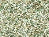Gewebter Brokatstoff, metallisch, Grün, Meterware
