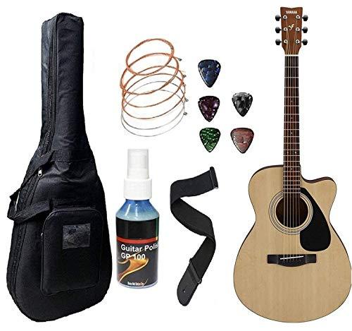 Yamaha FS80C Acoustic Guitar Cutaway Concert Body With Sponge Bag Belt and Plectrums.