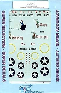 Superscale Decals 1:72 B-24 343 BS 98 BG Snow White Sneezy Grumpy #72-750