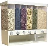 Dispensador De Cereales, Dispensador De Alimentos Secos De Montaje En Pared, Compartimentos Ajustables, Fácil De Presionar, Recipiente Transparente Para Cereales, Para Restaurante, Hogar, Cocina, Rega