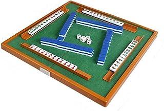 Entertainment Mahjong Portable Mini Mahjong with Foldable Gaming Chinese Mahjong Table Game Traditional Mahjong Convenience