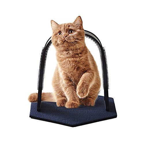 Perktail Plastic Cat Self Grooming Scratcher Rubbing Device Cat Back Scratching Arch Self-Groom Pet...