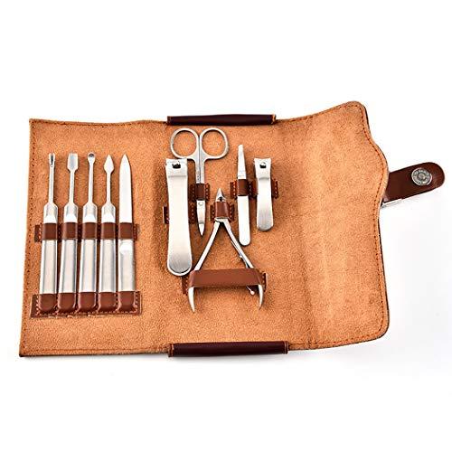 Kapmore 10PCS Manicure Tool Set Kit d'outils de Soin des Ongles à Usages Multiples