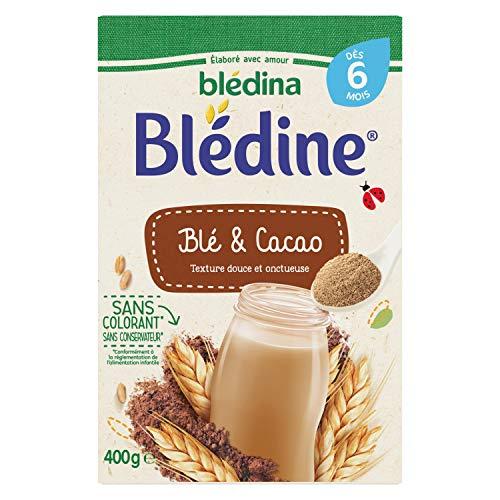 Blédina - Préparation à base de céréales instantanées, cacao, 400g