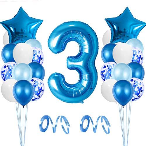 Globo de Cumpleaños 3 Año, Globo 3 Año, 3 Cumpleaños Niño, Globo Numero 3 Gigantes, 3 Años Cumpleaños, Number Balloons, Globos Decoracion Bautizo Comunión Fiesta Cumpleaños