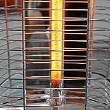 VASNER StandLine 25R | Stand-Heizstrahler Infrarot 2500 Watt - Silber grau - Fernbedienung, 4 Stufen Dimmer, Infrarotstrahler Standgerät, Standfuß, Terrassenstrahler elektrisch