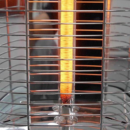 VASNER StandLine 25R Infrarot Standheizstrahler 2500 Watt mit Abdeckhaube, Fernbedienung, Thermostat, Carbon Standstrahler – schwarz - 7