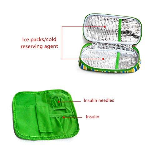 Astuccio Termico Da Viaggio, Portatile, Per Conservare L'Insulina, Rispettoso Dell'Ambiente, Colore: Verde