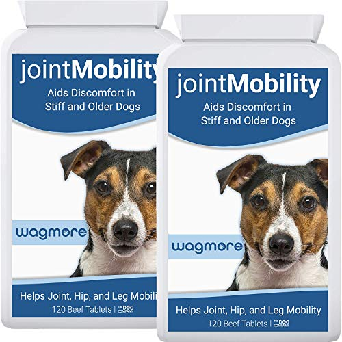 wagmore Dog Joint Care Supplement | Glucosamine, Turmeric and Boswellia | Reduces Discomfort in Stiff & Older Dogs | Aids Joint, Hip & Leg Mobility | Made in UK | 240 Tablets