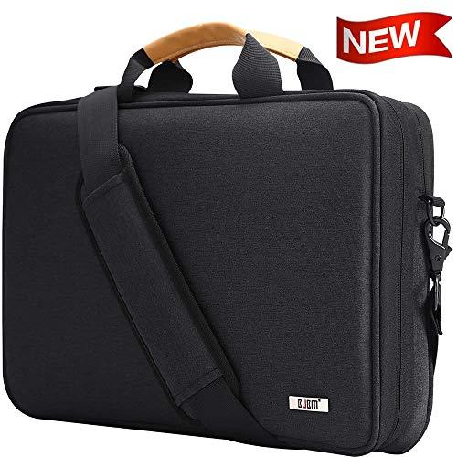 "BUBM Laptop Shoulder Bag 13-14 Inch Compatible for 13.3"" MacBook Pro,MacBook Air, 13.5"" Surface Laptop Case with Multiple Organizer Pockets, Carrying Briefcase Messenger Bag(Black)"