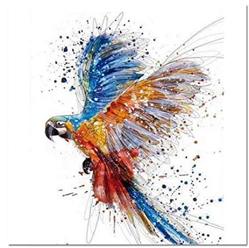 Malen Nach Zahlen DIY SchöNe Papagei Tanzen Tier Leinwand Hochzeitsdekoration Kunst Bild Geschenk 40 * 50CM Kein Bilderrahmen