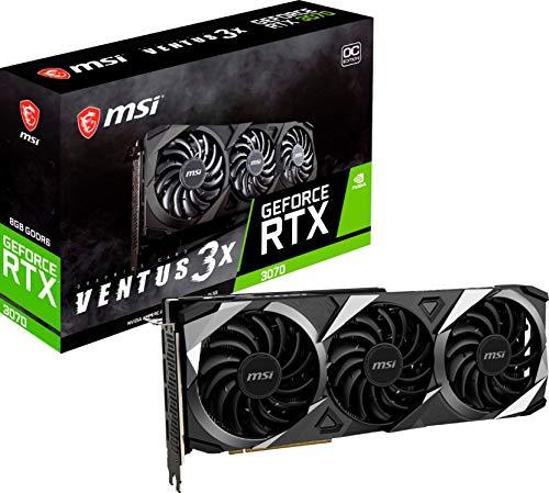 MSI GeForce RTX 3070 Ventus 3X OC Graphics Card, 8GB GDRR6, PCIe 4.0, Ray Tracing, VR...