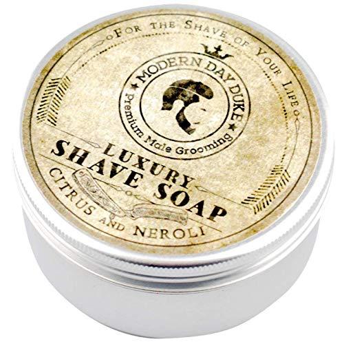 Crema de afeitar de lujo de Modern Day Duke, con aroma a ctricos y flores de naranjo, la mejor crema de afeitar para reducir la erupcin y la irritacin