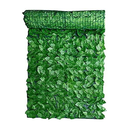 FILWO 1 Künstliches Blatt Efeu Heckenplatten tragbar Simulation Pflanzengarten Zaun Gartenmauer Schön für Haus, Garten, Terrasse