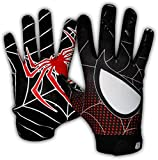 Taqcha Football Gloves-Tacky Grip Skin Tight Adult Football Gloves-Enhanced Performance Football Gloves Men-Pro Elite Super Sticky Receiver Football Gloves-Adult Sizes (Small)