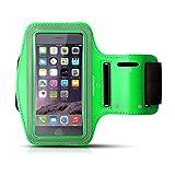 Pulsera deportiva »Runner-Girl« / Pulsera para running y carrera / brazalete deportivo / circunferencia del brazo 50 cm / está disponible en 3 tamaños diferentes / LARGE / 50CM Color : Verde / FBA