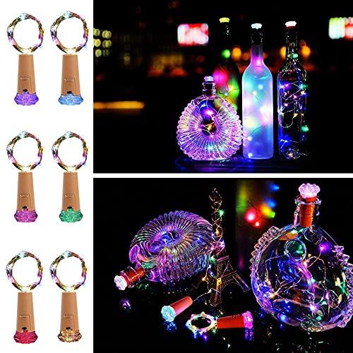 XKMY LED Garden String Lights 10 Pack Bottle Lights Cork Copper Wire 15LED String Lights for Wine Bottle Party DIY Wedding Decoration Lighting String (Emitting Color : RGB)