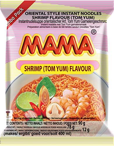 MAMA Instantnudeln Tom Yum mit Shrimpsgeschmack – Instantnudelsuppe orientalischer Art – Authentisch thailändisch kochen – Im Bigpack – 20 x 90 g