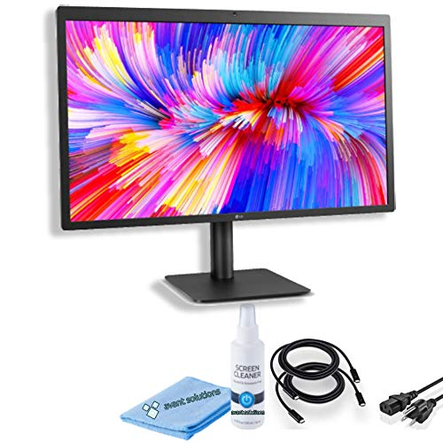 LG 27MD5KL-B Ultrafine 5K Display 27-Inch 16:9 5K (5120 x 2880) IPS Monitor, Thunderbolt 3 / USB Type-C Inputs, MacOS Compatibility Bundle w/Screen Cleaning Set (Single Set)