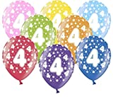 Libetui 10 kunterbunte Luftballons Metallic 30cm Deko zum