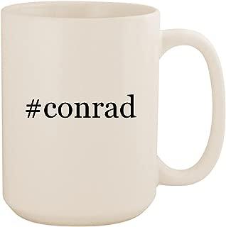#conrad - White Hashtag 15oz Ceramic Coffee Mug Cup
