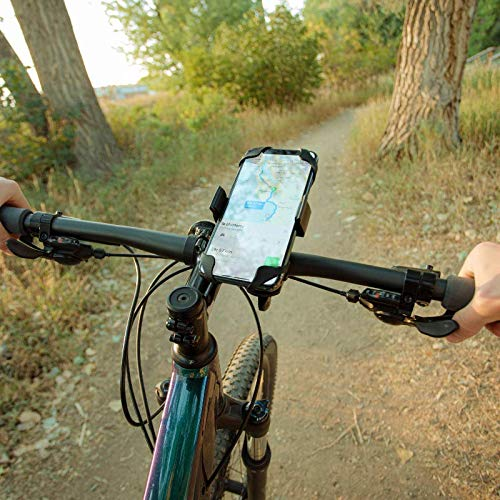 """Roam Universal Bike Phone Mount for Motorcycle - Bike Handlebars, Adjustable, Fits All iPhone's, 12, 11, X, iPhone 8, 8 Plus, All Samsung Galaxy Phones, S21, S20, S10, Holds Any Phone Up to 3.5"""" Wide"""