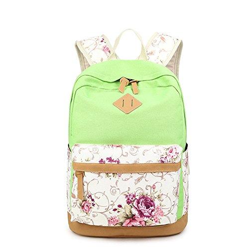 Fleur Casual imprimé toile portable sac scolaire sac à dos léger sacs à dos pour jeunes adolescentes