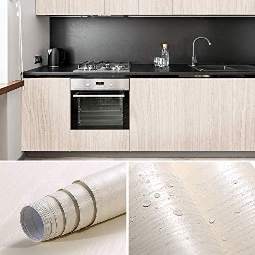 Selbstklebende Holztapete Klebefolie Möbelfolie Küchenfolie Holzoptik 0.61 * 5M geeignet für Möbel, Schrank, Küchenschränke, Wand, Glas, Türen (Type A)