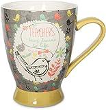 Pavilion Gift Company Teacher Ceramic Mug, 16 oz, Multicolored