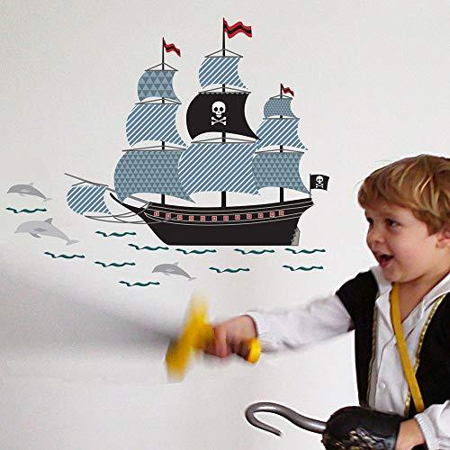 Vinilo decorativo, diseño de piratas.