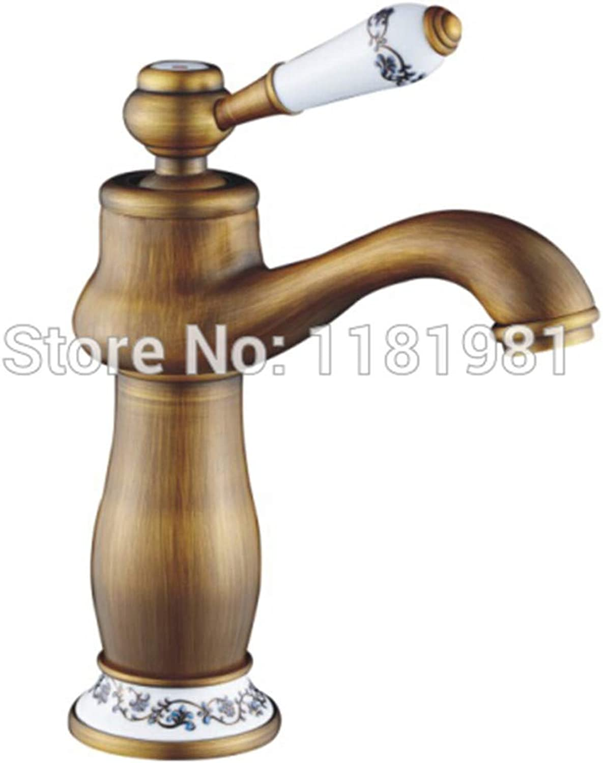 Retro Hot and Cold Faucet Retroeurope Bathroom Antique Brass Antique Single Hole Basin Taps
