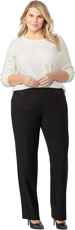 Dressbarn Women's Roz & Ali Secret Agent Pull On Tummy Control Pants