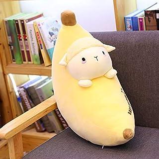 Gecfun Almohada de plátano de Dibujos Animados Lindo Conejo Dinosaurio cojín Largo niña Almohada para Dormir Juguetes de Peluche 62 cm (0.51 kg) Oveja de plátano