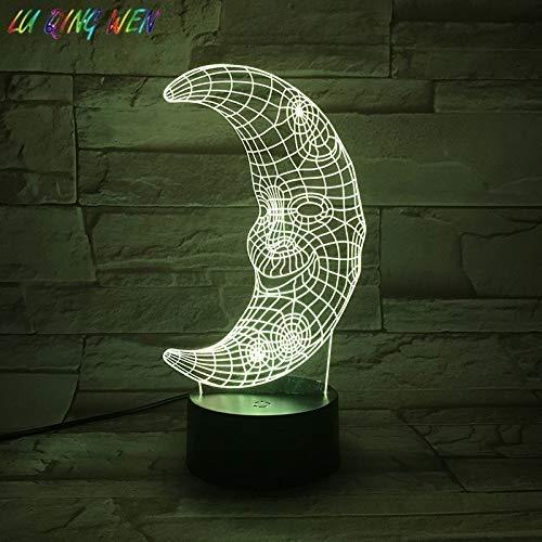 LED Nachtlicht Moon 7 Farbwechsel Schlafzimmer Dekoration De MAISON Nachtlicht Acryl 3D Mond Nachttischlampe